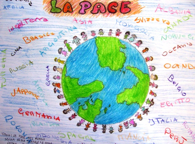 Favoloso L'ALBERO DEI COLORI dei Bambini del Mediterraneo : I ragazzi di Latina VB14