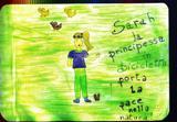 SARAH LA PRINCIPESSA IN BICICLETTA PORTA LA PACE NELLA NATURA